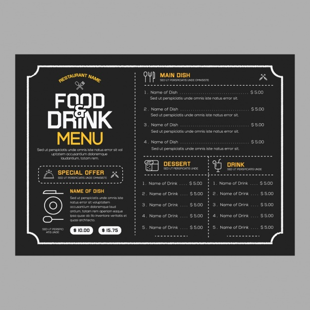Restaurant Menu Template Free Download Awesome Restaurant Menu Template Vector