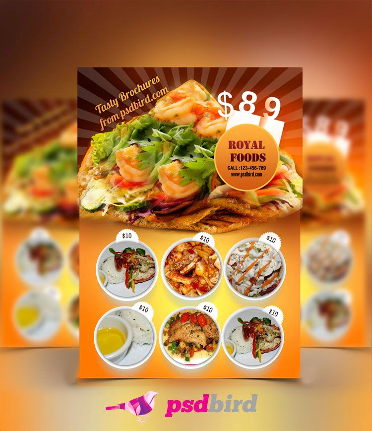 Restaurant Menu Template Free Download Beautiful Pin by Graphic Design Journal On Free Brochure Flyer Psd