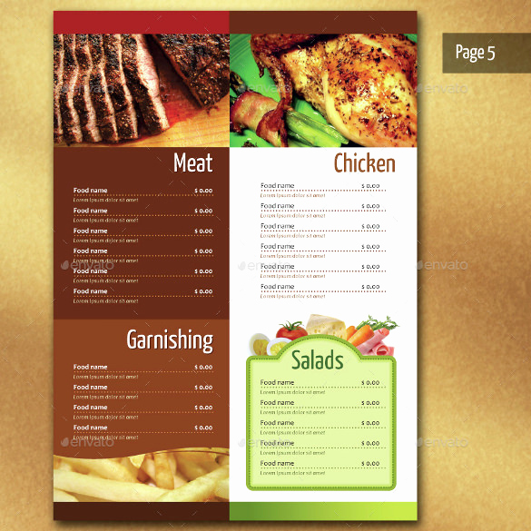 Restaurant Menu Template Free Download Beautiful Restaurant Menu Template 40 Free Psd Eps Documents