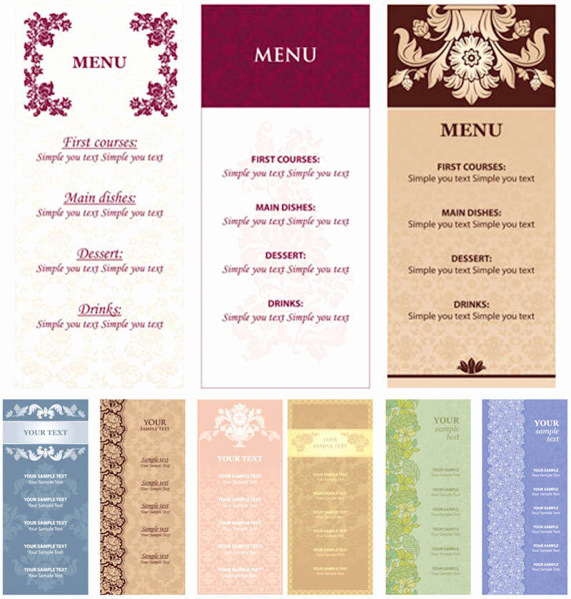 Restaurant Menu Template Free Download Beautiful Restaurant Menu Template