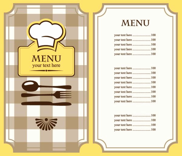 Restaurant Menu Template Free Download Elegant Free Restaurant Menu Template