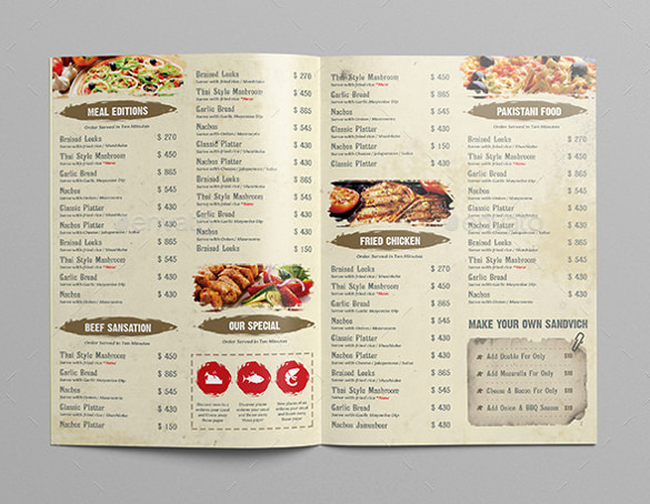 Restaurant Menu Template Free Download Fresh Restaurant Menu Template 40 Free Psd Eps Documents