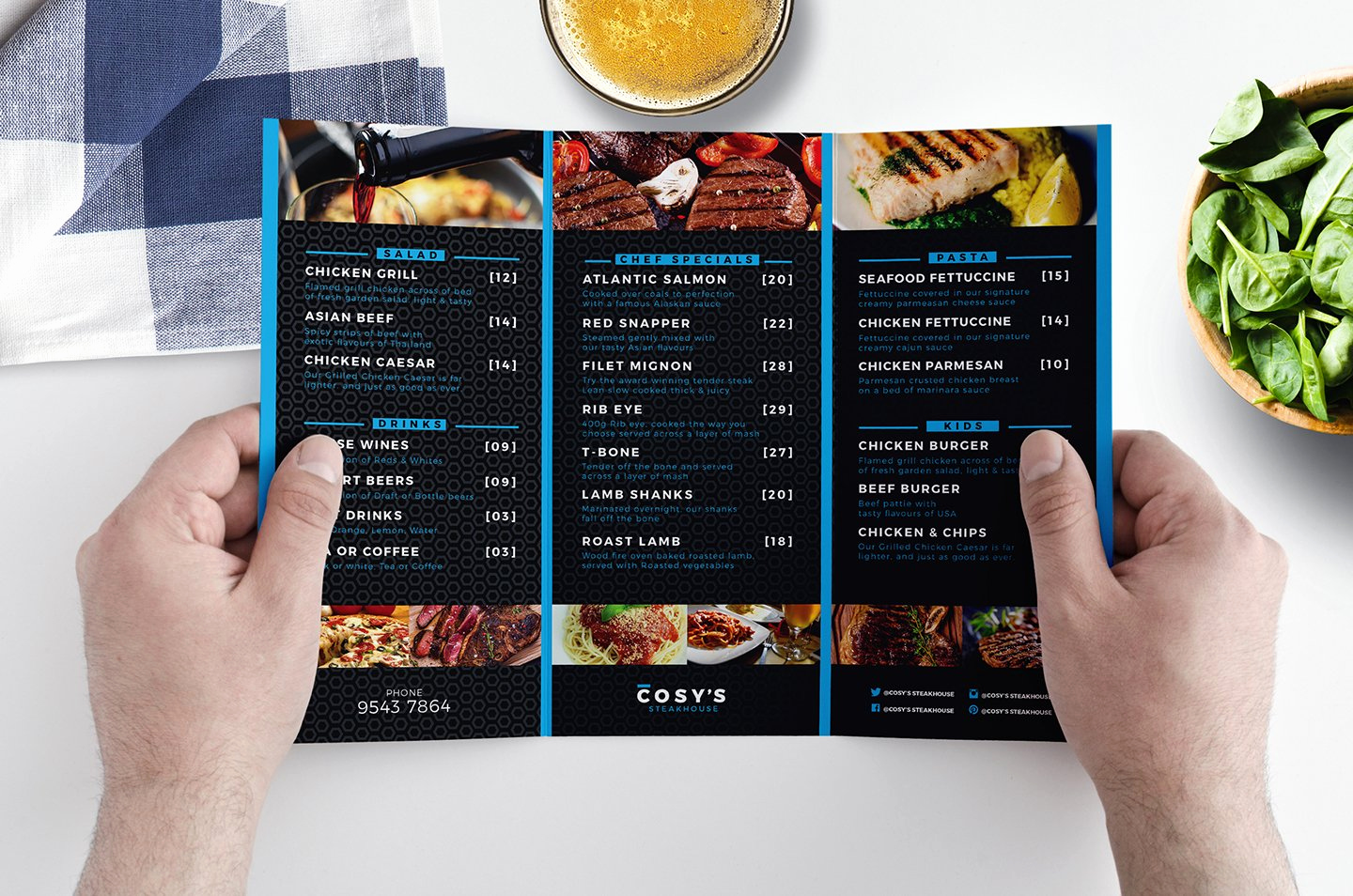 Restaurant Menu Template Free Download Inspirational Trifold Restaurant Menu Template Brochure Templates