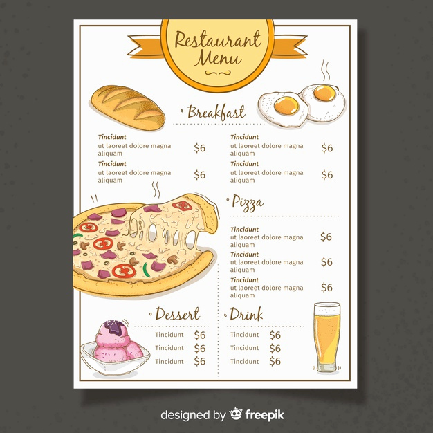 Restaurant Menu Template Free Download Luxury Flat Design Restaurant Menu Template Vector