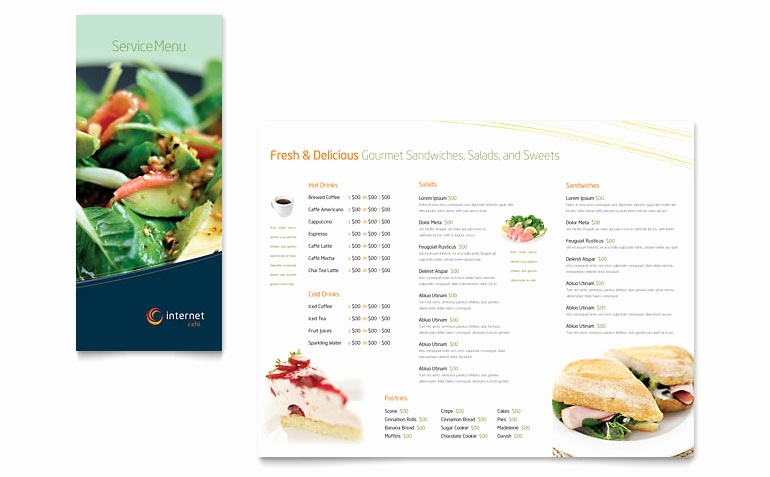 Restaurant Menu Template Free Download New Free Restaurant Menu Template Download Word & Publisher