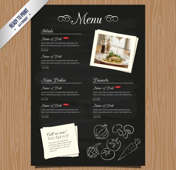 Restaurant Menu Template Free Download Unique 27 Restaurant Menu Templates Free & Premium Download