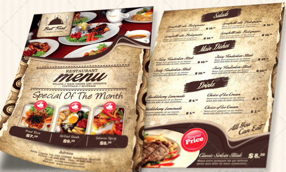 Restaurant Menu Template Psd Beautiful 19 Free & Premium Restaurant Flyer Templates Psd – Desiznworld