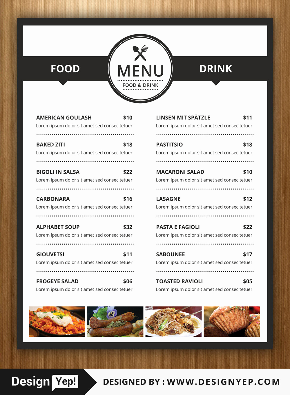 Restaurant Menu Template Psd Best Of 40 Restaurant Food Menu Design Psd Templates