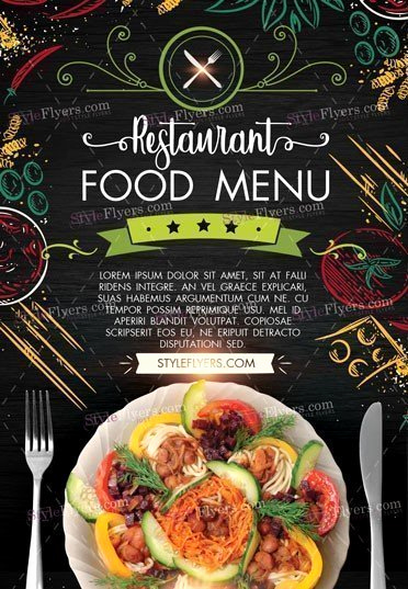 Restaurant Menu Template Psd Inspirational Restaurant Food Menu Psd Flyer Template Styleflyers