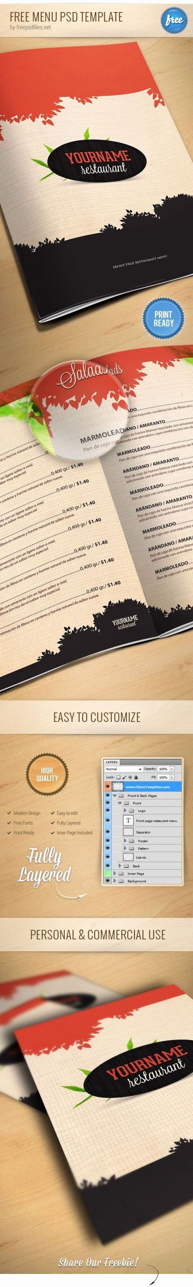 Restaurant Menu Template Psd Luxury Free Restaurant Menu Psd Template