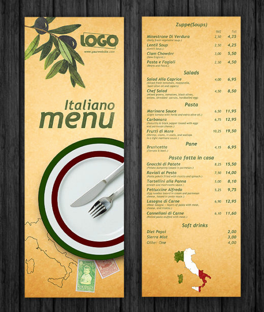 Restaurant Menu Template Psd Unique 15 Unique Free Psd Restaurant Menu Templates Dotcave