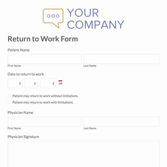 Return to Work Note Template Awesome Printable Doctor Note