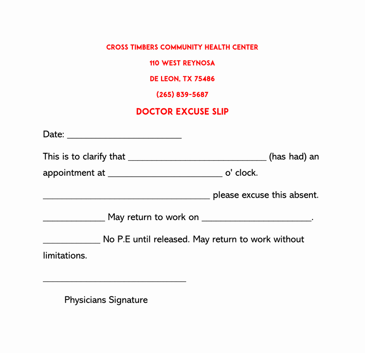 Return to Work Note Template Beautiful 36 Free Fill In Blank Doctors Note Templates for Work
