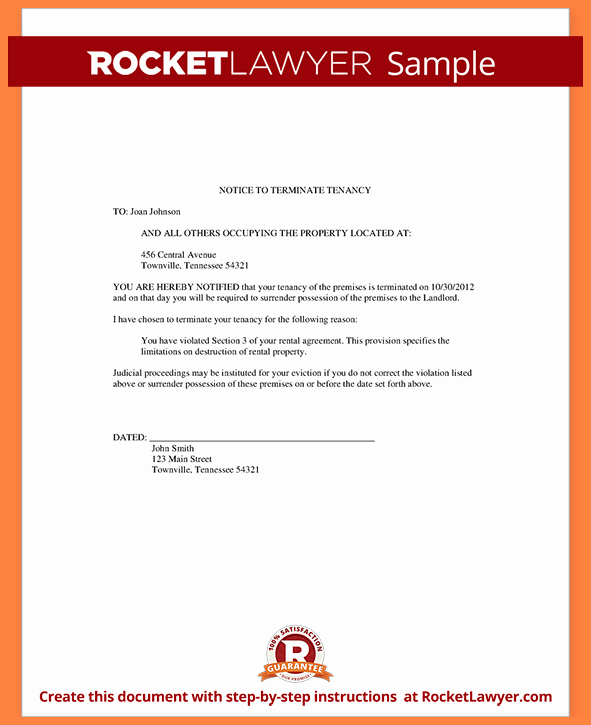 Roommate Eviction Notice Template Unique 4 30 Day Notice to Roommate