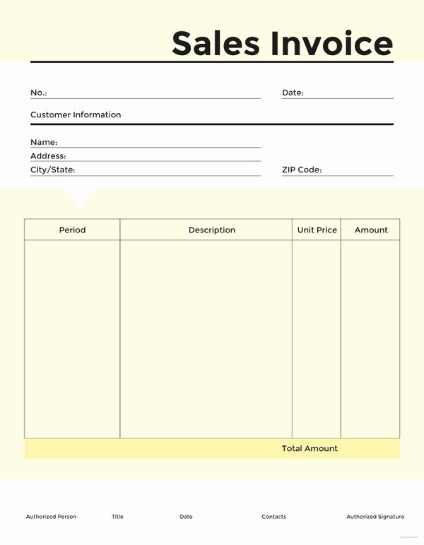 Sales Invoice Template Word Elegant 16 Sales Invoice Template Free Word Excel Pdf Download
