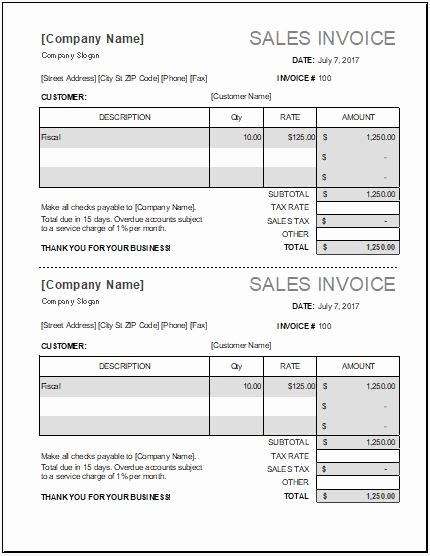 Sales Invoice Template Word Elegant Ms Excel Sales Invoice Template