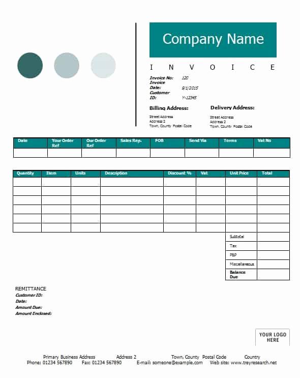 Sales Invoice Template Word Elegant Sales Invoice Template Printable Word Excel Invoice