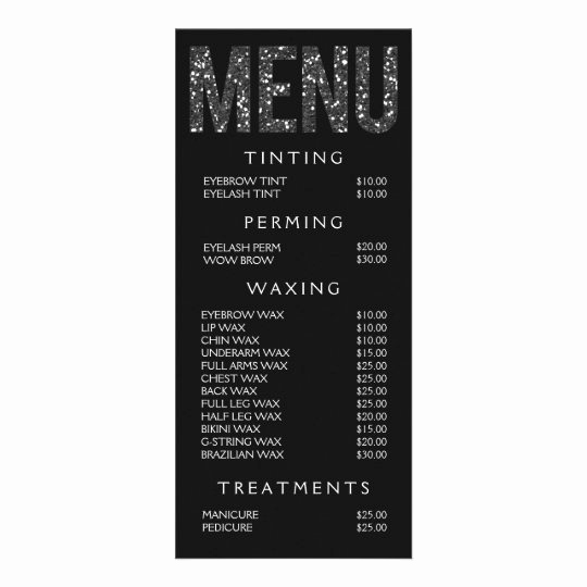 Salon Price Menu Template Beautiful Beauty Florals Nail Salon Price List Service Menu