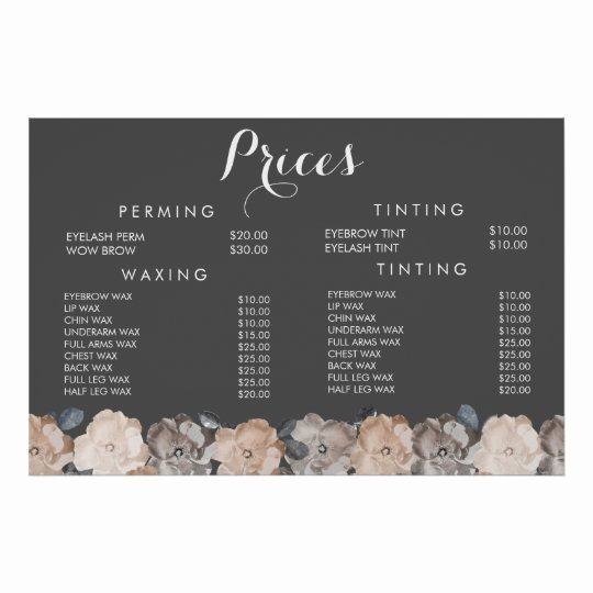 Salon Price Menu Template Best Of Hair Beauty Salon Beautician Menu Price Poster