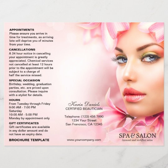 Salon Price Menu Template Best Of Spa and Salon Service Menu and Price List Template