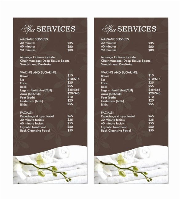 Salon Service Menu Template Best Of 22 Salon Menu Template – Nurulamal