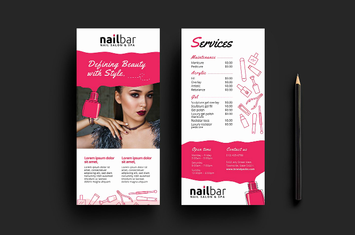 Salon Services Menu Template Unique 15 Eye Catching Salon Menu Templates Psd Ai