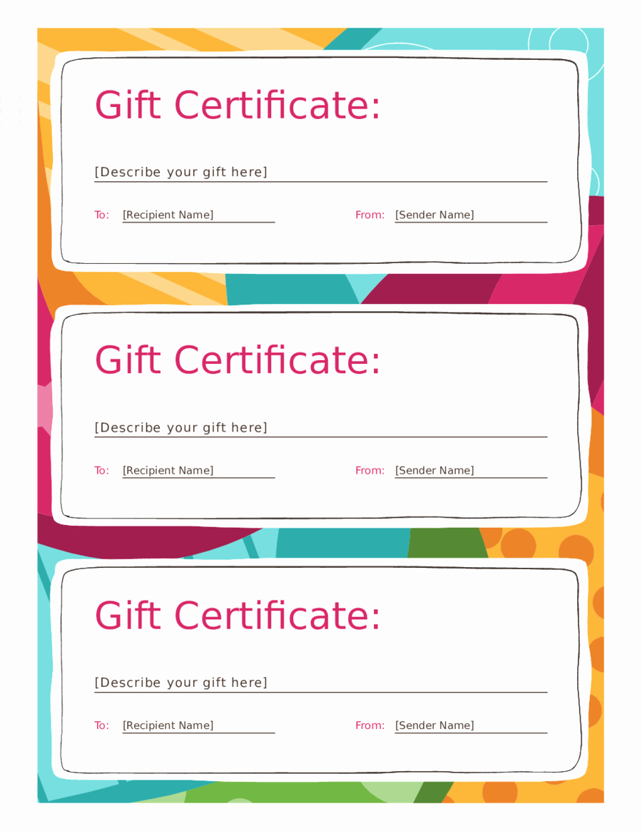 Sample Gift Certificate Template Fresh 2019 Gift Certificate form Fillable Printable Pdf
