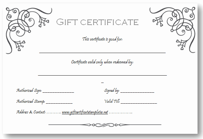 Sample Gift Certificate Template Fresh Art Business T Certificate Template