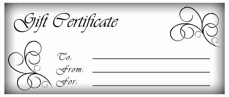 Sample Gift Certificate Template Luxury Make Gift Certificates with Printable Homemade Gift