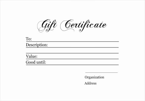 Sample Gift Certificate Template Unique 6 Homemade Gift Certificate Templates Doc Pdf