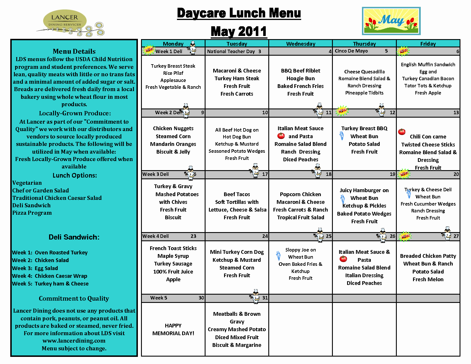 School Lunch Menu Template Beautiful Weekly Menu Template for Daycare