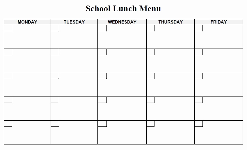 School Lunch Menu Template Fresh 13 Free Sample Lunch Menu Templates Printable Samples