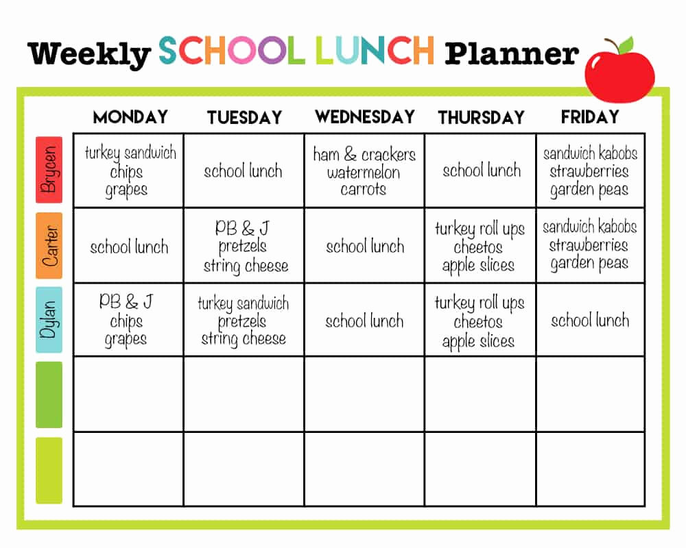 School Lunch Menu Template Fresh Cupcake Diaries top 10 Posts Of 2015