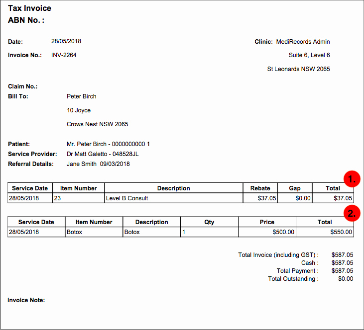 Screen Printing Invoice Template Best Of Medirecords Invoice Types – Medirecords Knowledge Base