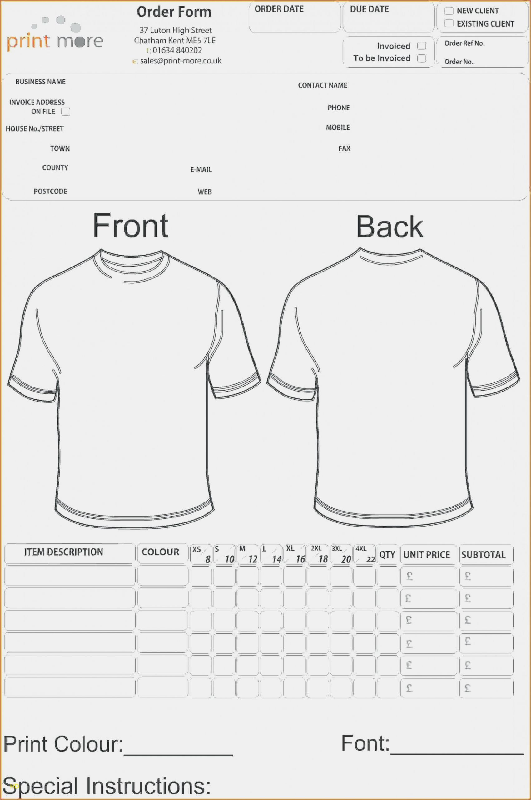 Screen Printing Invoice Template Best Of Ten Facts that Nobody told