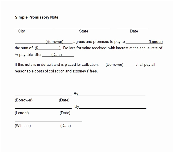 Secured Promissory Note Template Pdf Luxury 34 Promissory Note Templates In Google Docs