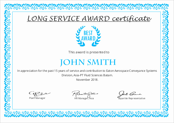 Service Award Certificate Template Fresh Printable Certificate Template 46 Adobe Illustrator