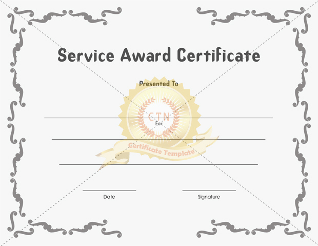 Service Award Certificate Template Inspirational Service Award Certificate Templates Documents