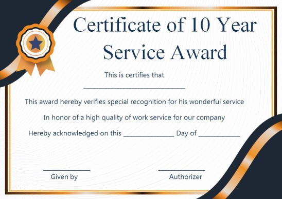 Service Award Certificate Template Luxury Customer Service Award Certificate 10 Templates that Give