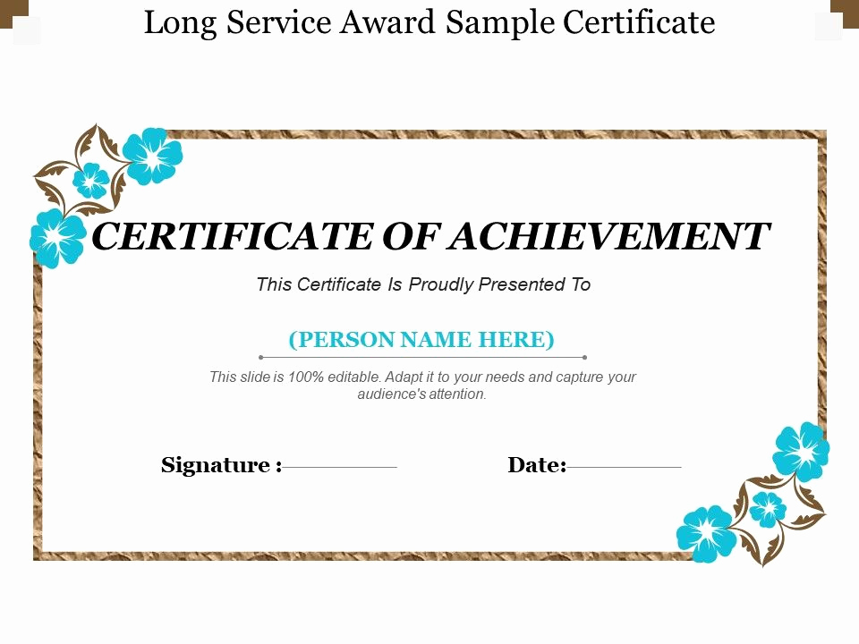 Service Award Certificate Template Unique Long Service Award Sample Certificate