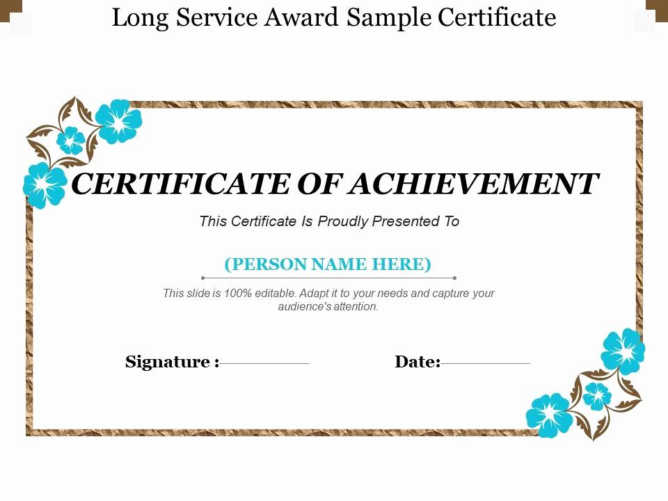 Service Award Certificate Template Unique Long Service Award Sample Certificate