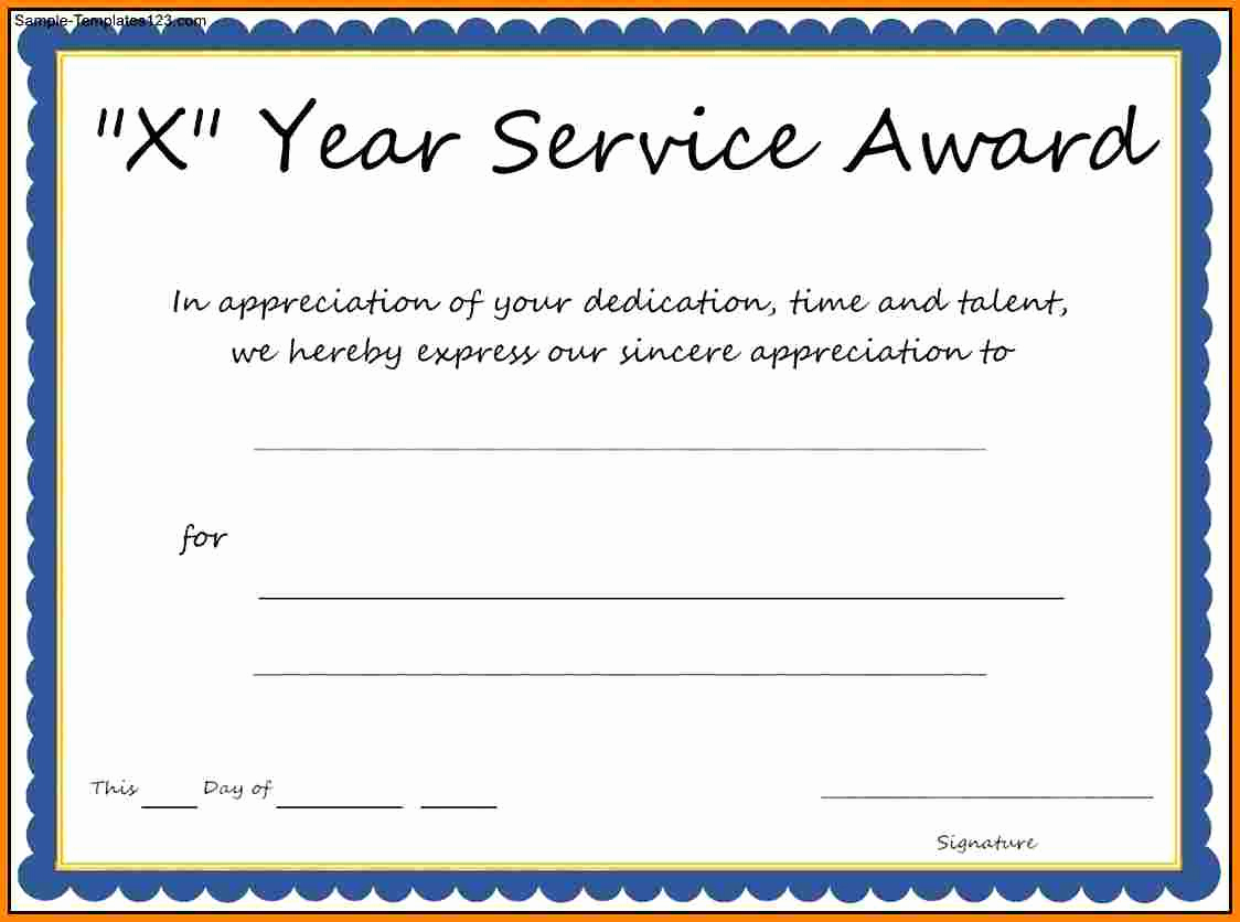 Service Award Certificate Template Unique Multi Year Service Award Certificate Template
