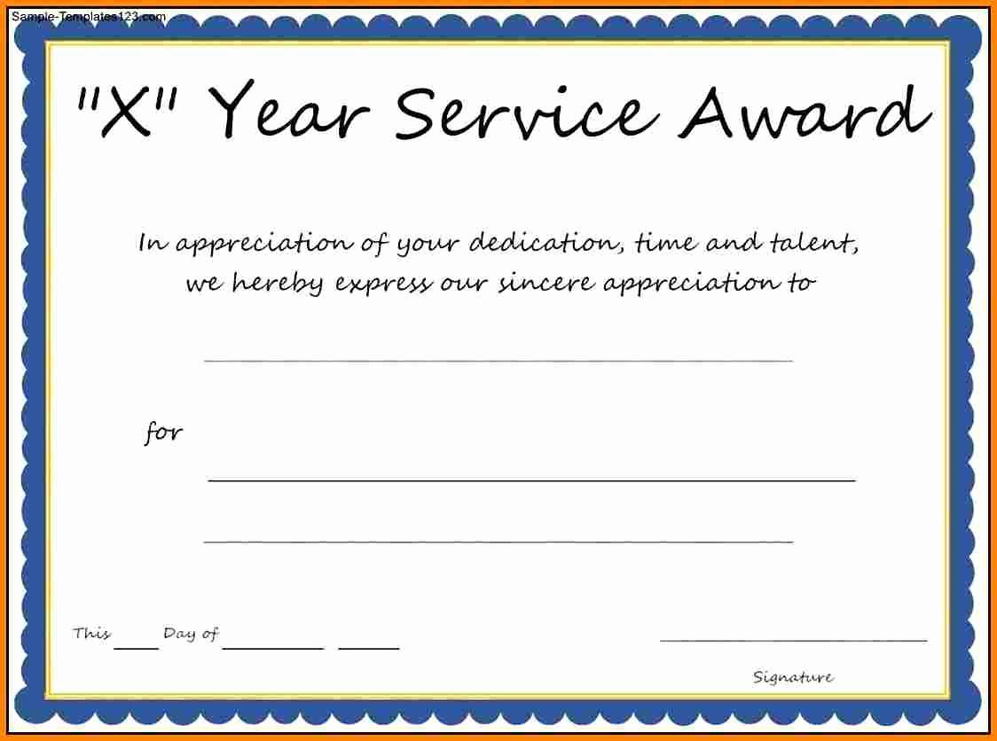 Service Award Certificate Template Unique Multi Year Service Award Certificate Template