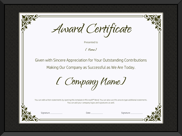 Service Awards Certificates Template Best Of Blank Retirement Certificate Template Editable and Printable