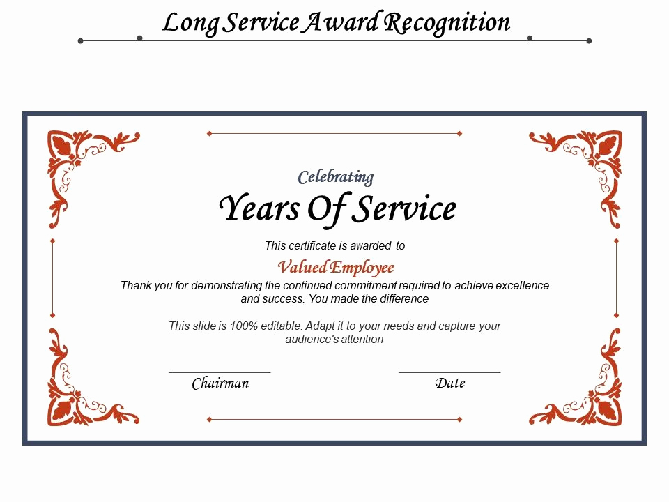 Service Awards Certificates Template Best Of Long Service Award Recognition