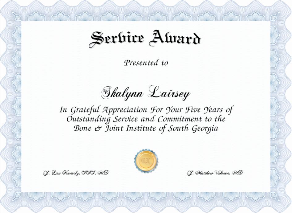 Service Awards Certificates Template Elegant Service Award Certificate