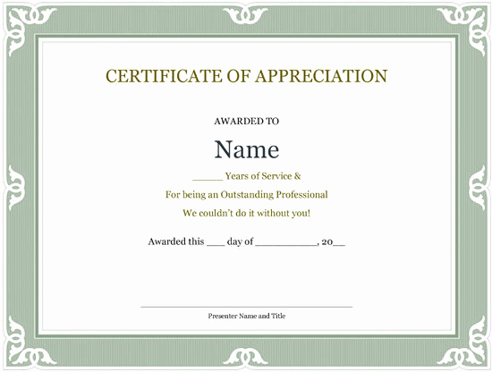 Service Awards Certificates Template Fresh Certificate Templates