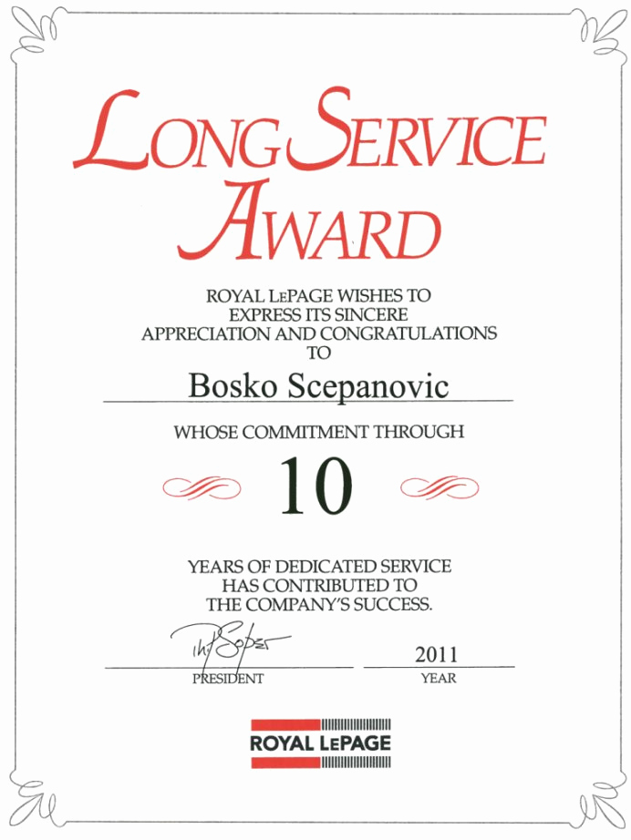 Service Awards Certificates Template Inspirational Years Service Certificate Template