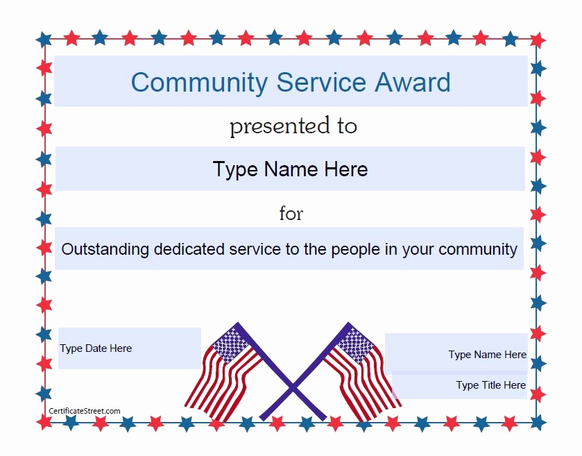 Service Awards Certificates Template Lovely Doc Pdf Cummunity Service Certificate