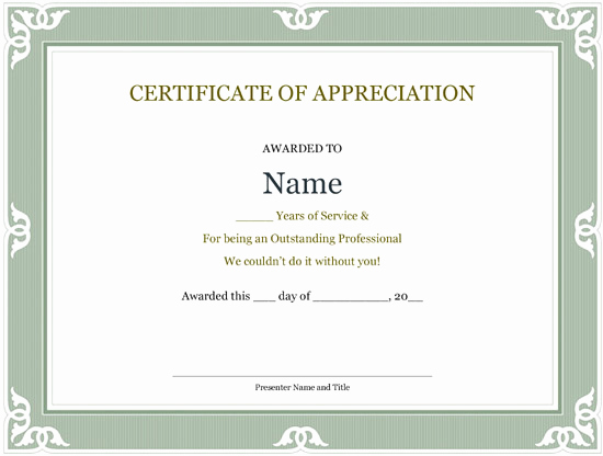 Service Awards Certificates Template Luxury 5 Printable Years Of Service Certificate Templates – Word